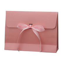 Large Ribbon Kraft Paper Envelope Bag Handkerchief Silk Scarf Packing Boxes