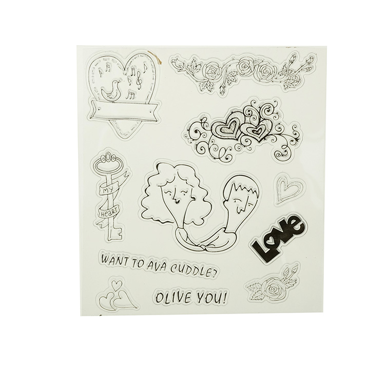 christmas pattern custom PVC rubber colorful rubber  clear stamp sets
