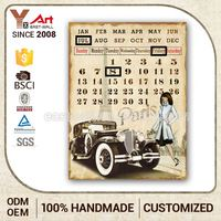 Hot Product Antique Style Calendar Fruit Wall Plaque Art Work Craft