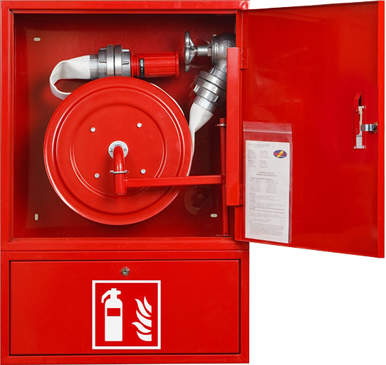 ISO, CCC Certificated fire cabinet with fire hose reel and polyester fire hose