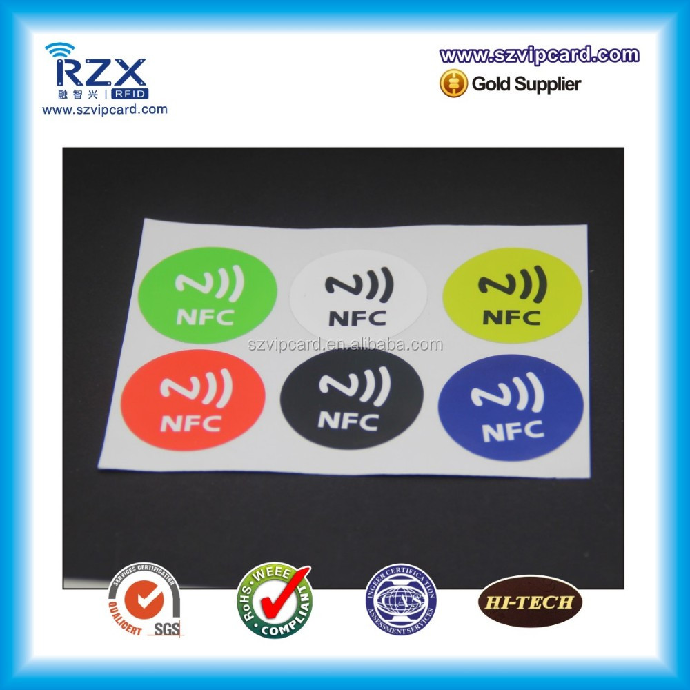 Cheap Price 13.56MHz Hf NFC Ntag216 RFID Sticker/Label Tag for E-Payment