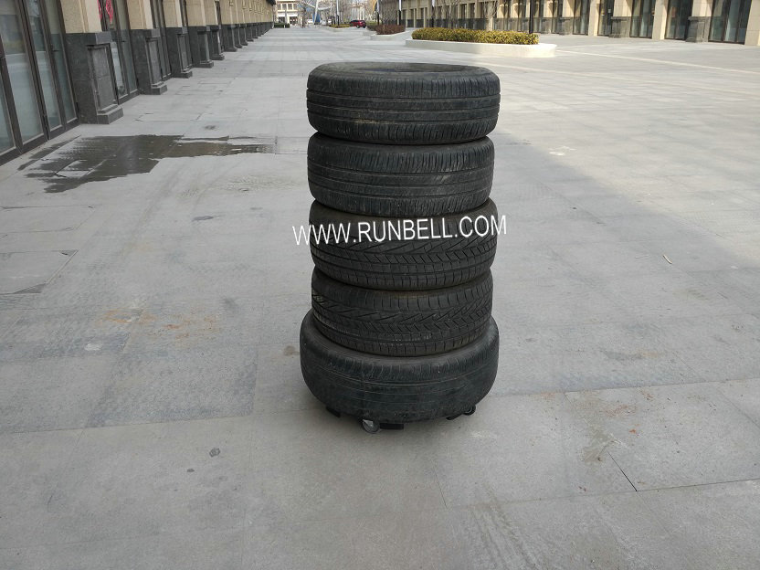 Auto Accessory Four-wheel Round Moving Plastic Tyre Dolly