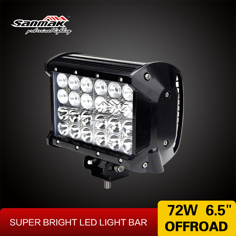 4x4 Mix beam auto led light bar supplier unique designed 72w bar led off road for offroad vehicle