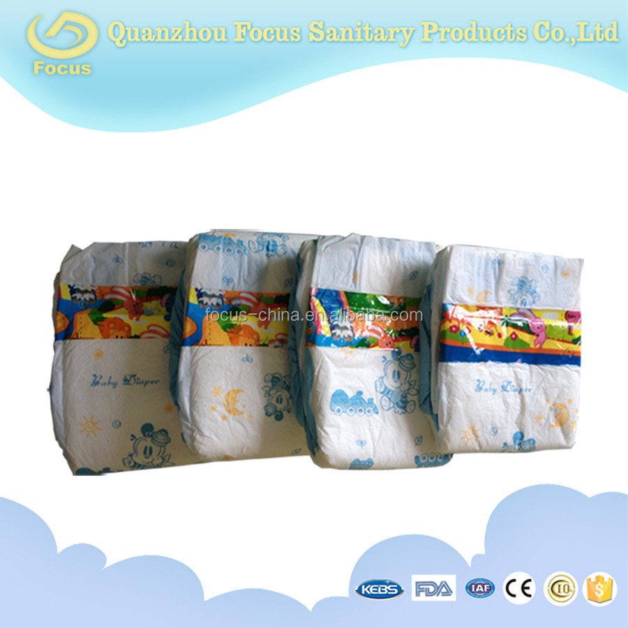 Baby cloth diaper with PE tape