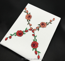 Fashion Design iron on mix colorful rose Flower Embroidery patch for shoes, hat, clothes.Wholesale Custom 3D Fabric Patch