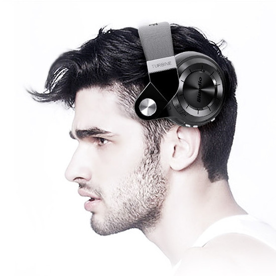 Bluedio T2+ Wireless Bluetooth 4.1 Stereo Headphone Headset Foldable Stretchable Support FM TF Card