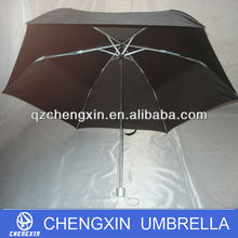 sun hat head umbrella clip, cheap folding umbrella