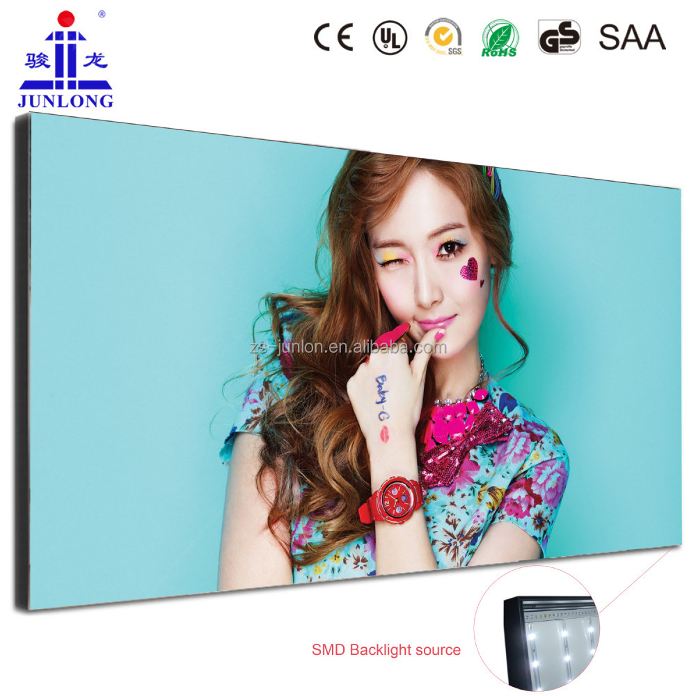 Waterproof outdoor led open picture frame fabric lightboxes signs
