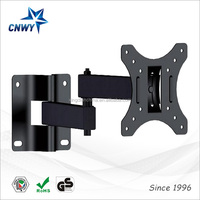 15 to -15 Degree Tilt 90 degree LCD TV Wall Mount for 10-23 Inch Screens