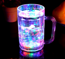 Hot Sale LED Flashing Glass Cup Beer Cup Lighted Cheering Tumbler