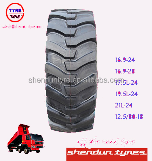Solid Tire Type and ISO9001 Certification Mining truck tyre 16.9-24 16.9-28 17.5L-24 19.5L-24 21L-24 12.5/80-18