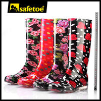 Camo rain boots for women,neoprene rain boots for women,lady pvc transparent ankle rain boots W-6040