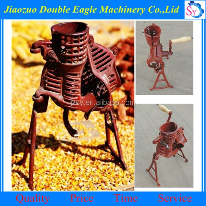 cast iron hand operated corn thresher /portable mini hand maize sheller
