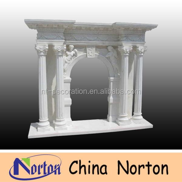 home decoration European indoor marble decorative fireplace mantles NTMF-F226S