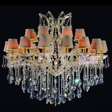 24 Lights Maria Theresa Fabric Chandelier Lamp Crystal Centerpieces for Wedding Table