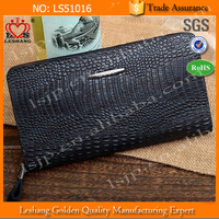 China Manufacture men wallet leather with crocodile leather