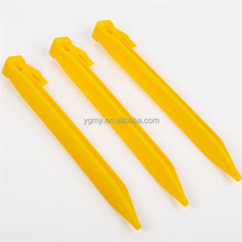 22cm Plastics Endurable Camping Awning Tent Stakes Pegs Pins Yellow