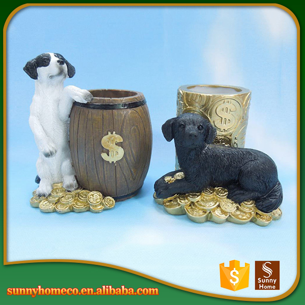 Miniature resin puppy dog figurines