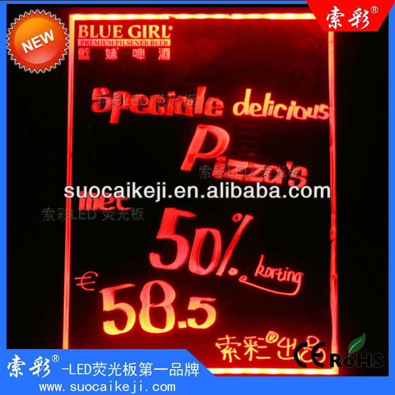 Programmable Led illuminated electronic Visual Display Board with remote controller