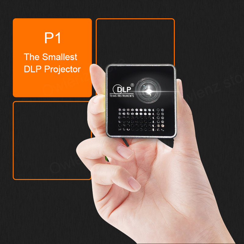 In Stock!!! UNIC Cheap Pico mini Projector 30 ANSI Lumens1080p LED Pocket DLP Projector P1