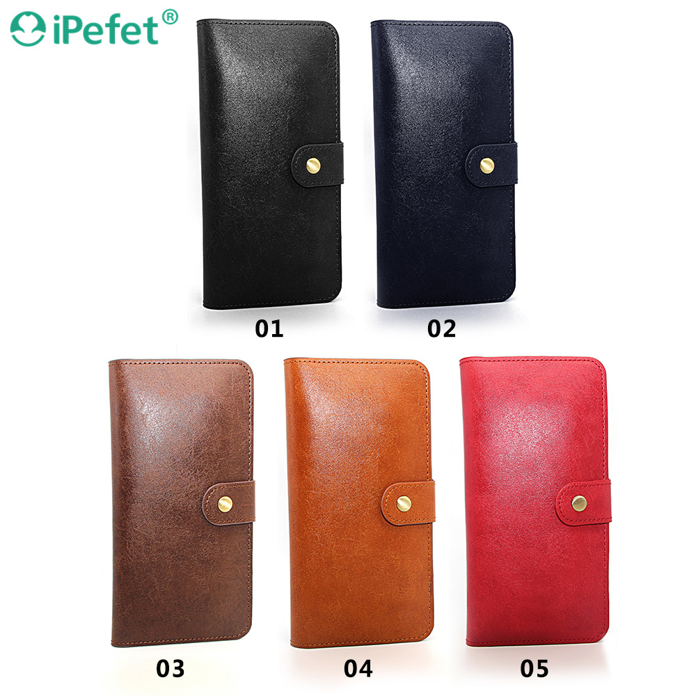 iPefet- Universal Beauty case PU Leather Wallet Hand Bag Four Card Slot Case Smartphone