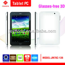 7 inch android tablet pc Dual Core with Glasses-free 3D Function