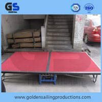 Strong and durable aluminum portable stage platform , folding stage for banquet