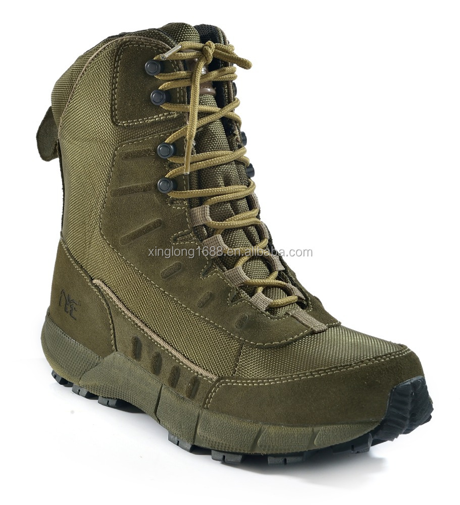 Men's Army Comfortable Leather Military Boots Green