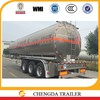 Machanical suspension 3 Axles Aluminum Tanker Semi Trailer