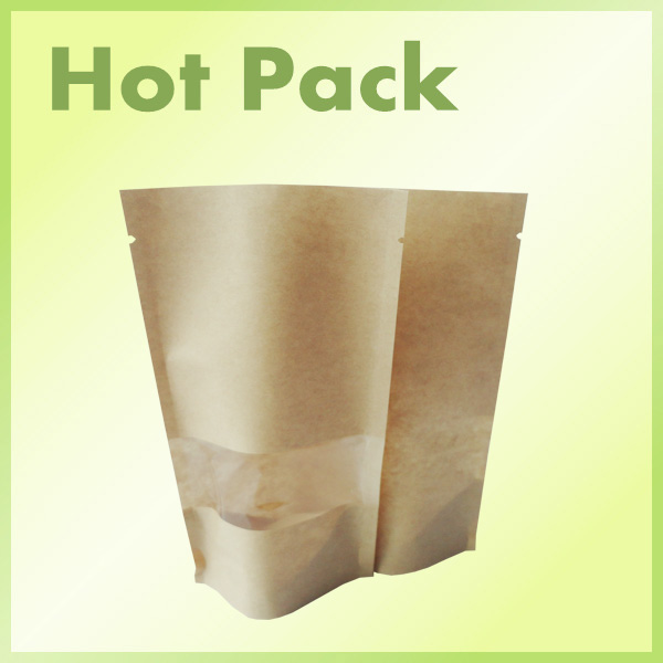 paper kraft ziplock stand up pouc / coffee bag kraft paper aluminum foil zipper bag