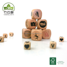 The game dice made of schima wood eco-friendly wooden crafts