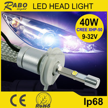 Wholesale led headlamp h4 hot sale 40w h4 high power led headlight China made 4800LM h4 led headlight for harley davidson