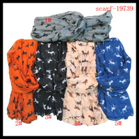 2014 womens dog printing scarves