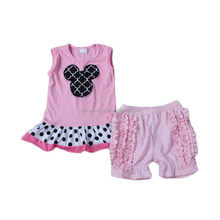 kids modeling name brand girls clothes pink cartoon embroidery baby boy clothing
