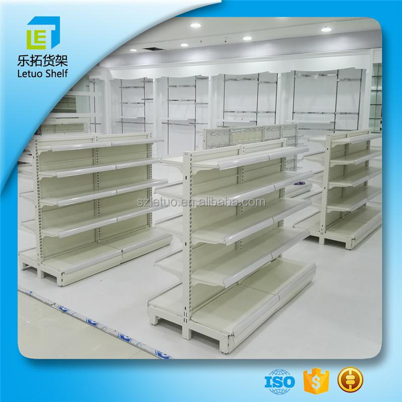 Cold rolled Steel racking removable shelves wood supermarket shelf retail shelving display system for wholesales
