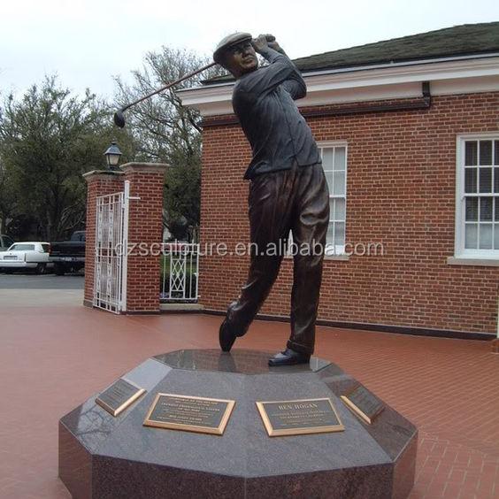 Outdoor Garden Decor Life Size Golfer Playing Golf Statues