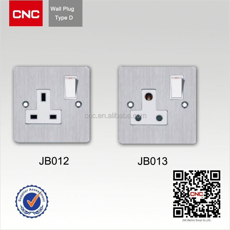 European style 4 gang 1 way wall switch