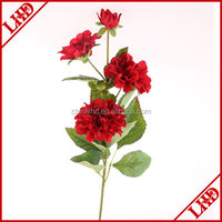 single stem 4 heads dahlia flower artificial dahlia for decoration