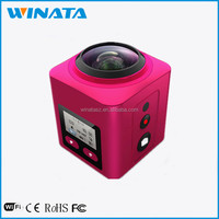 220 degree fish eye 4K 30fps 360 degree Full-Viewing sport dv camera Super wide angle Lens 360 action camera