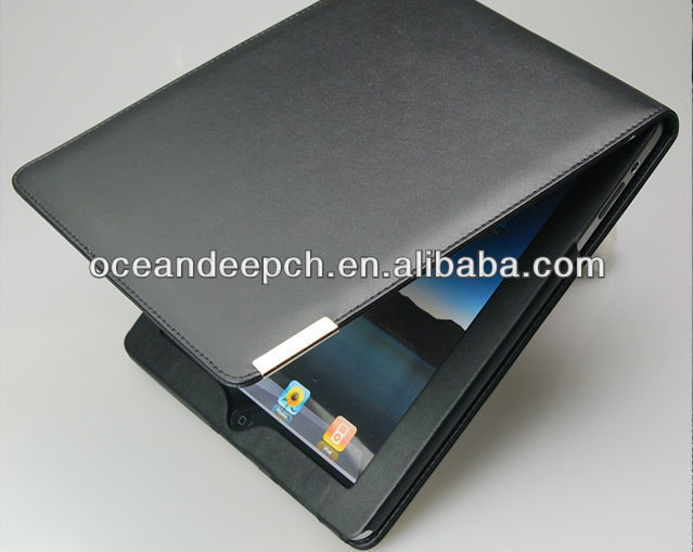 book leather case for new i pad/ i pad 3 flip case