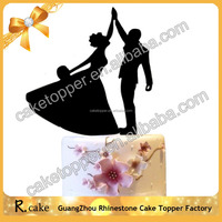 Acrylic Wedding Party Decoration Lucite Wedding Cake Topper for Bride and Groom