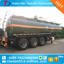 Chemical Liquid Trailer HCl NAOH H2SO4 semi trailer for sale