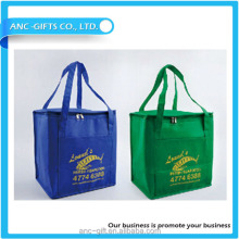 Promotional Reusable insulated lunch cooler bag wine bottle cooler bag