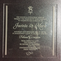 special material laser engrave elegant clear custom Acrylic wedding invitation card