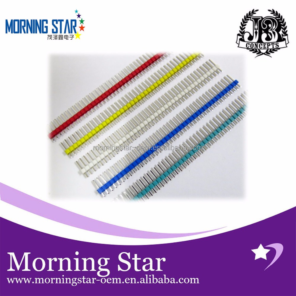 Color pin spacing 2.54MM 1 * 40P single row pin single row straight pin Yellow White Red Green