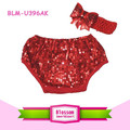 Girl shorts new boutique wholesale bloomer shiny print panties spandex fabric diaper cover sparkle baby boys sequin bloomers set