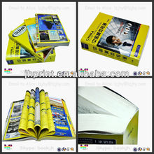 upmarket yellow pages and business catalog print in Shenzhen China