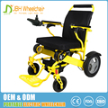 Aluminum alloy electric wheel chair 5 seconds folding or unfolding power wheelchair light weight only 24kg electric wheelchair