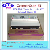 Enigma2 Zgemma -tar H1 HD satellite tv receiver with internent connect Zgemma-star H1 hd DVB-S2 +IPTV set top box