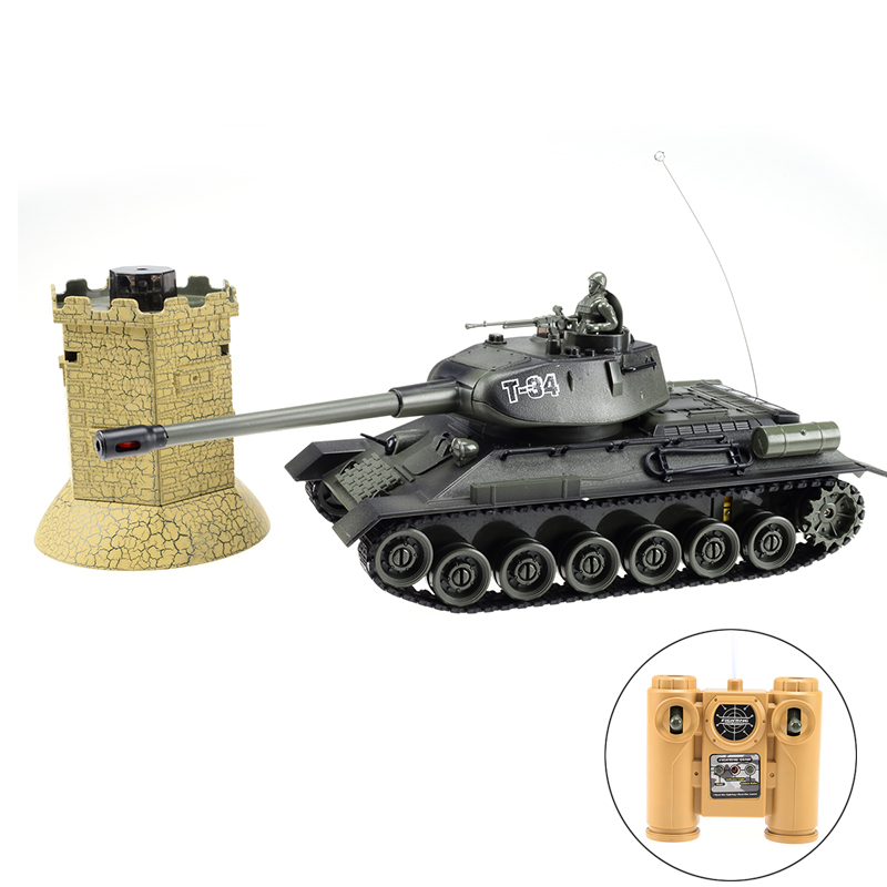 Hot rc toys 27mhz rc tank wars with simulated bunker